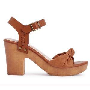Kyrstin Knotted Platform Sandals Heels